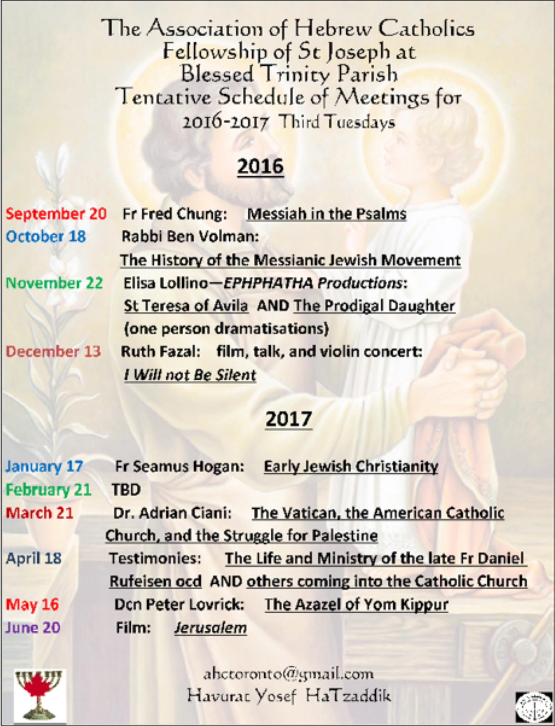 AHC Havurah Newletter, Vol  14, Sept  2016 – Association of